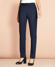 Brooks Brothers Tapered Stretch Wool Trousers