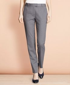Brooks Brothers Tapered Pinstripe Stretch Wool Tro