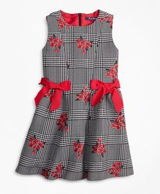 Brooks Brothers Girls Floral Jacquard and Houndsto