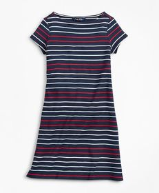 Brooks Brothers Girls Cotton Knit Stripe Dress