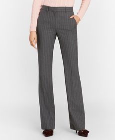 Brooks Brothers Petite Pinstripe Stretch Wool Pant