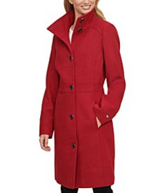 Single-Breasted Stand-Collar Coat