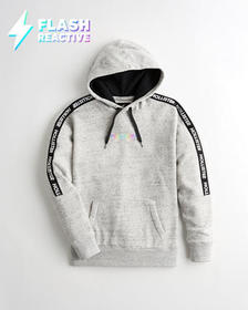 Hollister Flash Reactive Graphic Hoodie, HEATHER G