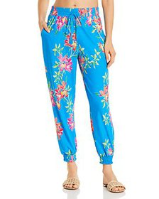Tommy Bahama - Floral-Print Cover-Up Joggers