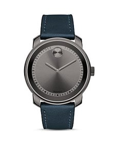 Movado - BOLD Leather Strap Watch, 42mm