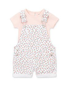 7 For All Mankind - Girls' Cotton Tee & Overalls S