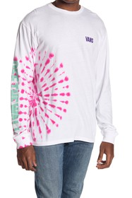 VANS Eyes Open Tie-Dye Long Sleeve T-Shirt