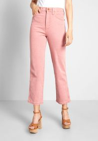 Wrangler City Cowgirl Straight Jeans Pink