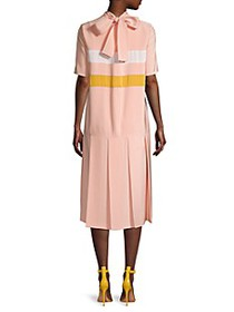 Marni Mockneck Drop-Waist Dress