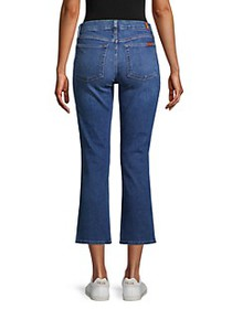 7 For All Mankind Kimmie Crop Flare Jeans