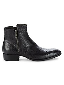 Jo Ghost Embossed Snake-Print Leather Boots