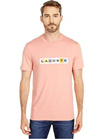 Lacoste Short Sleeve Graphic T-Shirt with Multicol