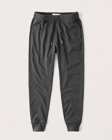 Tech Graphic Logo Joggers, DARK GREY