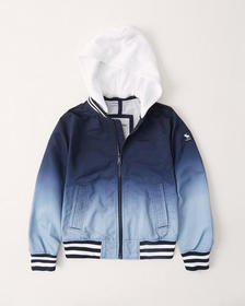 ombre bomber jacket, BLUE OMBRE