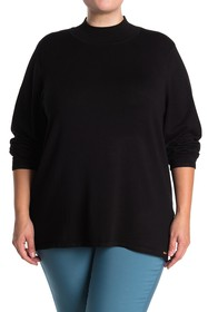 T Tahari Mock Neck Pullover Sweater (Plus Size)