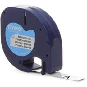 Dymo 91331 1/2in x 13ft LetraTag Plastic Labels, W