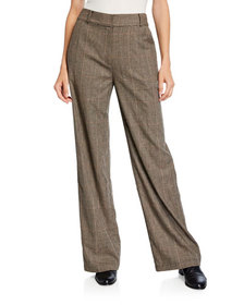 Co Glen-Plaid Cropped Pants