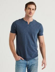 Lucky Brand Slub Notch Neck Tee