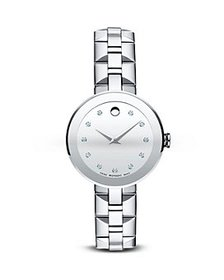 Movado - Movado Sapphire™ Stainless Steel Watch wi