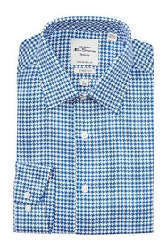 Ben Sherman Houndstooth Tailored Slim Fit Dress Sh