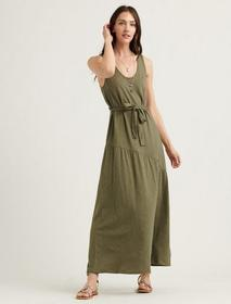 Lucky Brand Eliza Belted Maxi Dress