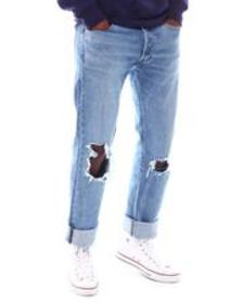 Levi's levis 501 original fit distressed jean