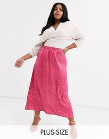 AX Paris Plus a-line midi skirt in leopard print