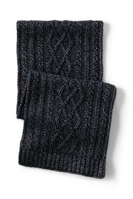 Lands End Women's Aran Cable Knit Winter Scarf