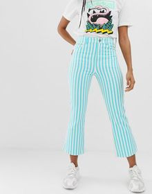 ASOS DESIGN egerton rigid crop kick flare jeans in