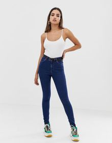 ASOS DESIGN high rise ridley 'skinny' jeans in dee