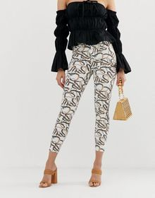 River Island Molly skinny jeans in chain print