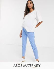 ASOS DESIGN Maternity high rise farleigh 'slim' mo