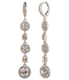 Givenchy Crystal Open Pave Linear Earrings