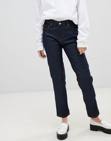 Dr Denim edie high waisted slim mom jean in rinse