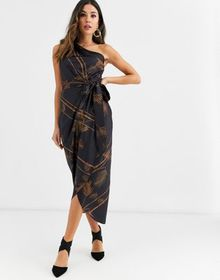Ted Baker Gabia caramel one shoulder dress