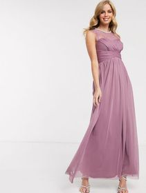Lipsy lace embellished maxi dress in pink