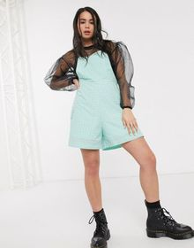The Ragged Priest romper in mint check