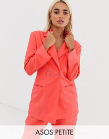 ASOS DESIGN Petite strong shoulder suit blazer in