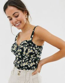 Oasis cami top in daisy print