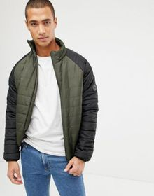 French Connection Padded Jacket With Contrast Ragl