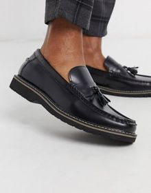 Devils Advocate chunky leather tassel loafers