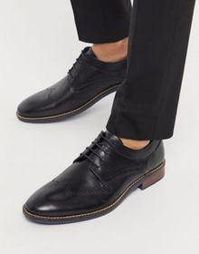Silver Street leather lace up brogues in black
