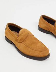 Farah suede loafers in tan
