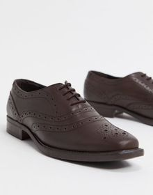 Redfoot oxford toe cap leather lace up brogues in