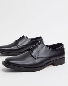 Redfoot smart leather lace up shoes in black