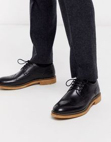 Silver Street leather brogue lace up in black