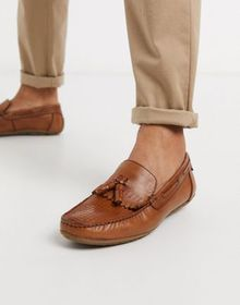 Silver Street woven loafer in tan leather