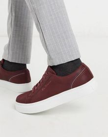 Ben Sherman chunky sole lace up sneakers in brown