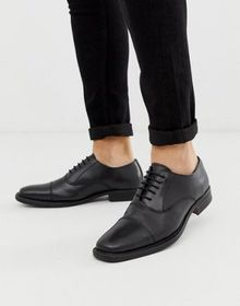 Redfoot leather chunky sole shoe in black