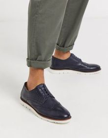 Common People leather brogue shoe in navy